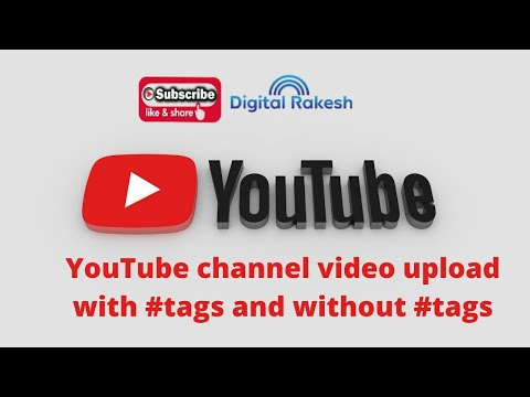 YouTube video upload with hashtags and without hashtags