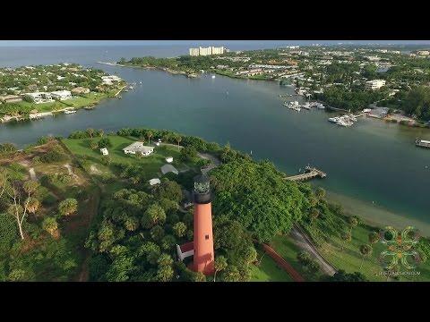 Jupiter, Florida Inlet Aerial Tour
