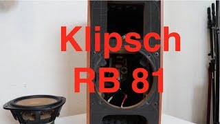 Klipsch RB 81 - A Look Inside