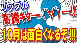 仮想通貨リップルXRP高騰キタ━゜∀゜━!!10月はもっと面白くなるぞ!!!