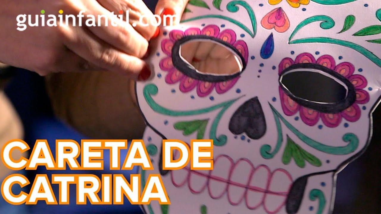 Cómo hacer una máscara de Catrina para Halloween
