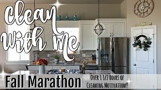 FALL CLEAN WITH ME MARATHON :: OVER 1 1/2 HOURS OF INSANE CLEANING MOTIVATION :: CLEANING ROUTINE
