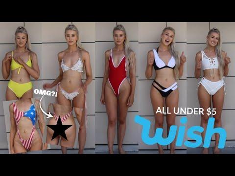 WISH Bikini Haul! All Under $5…OMG! 😱