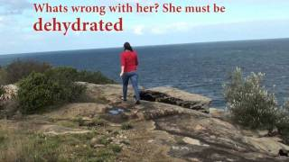 Water Advertisment Romantic Cliff Scene  - Evermore Running