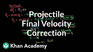 Correction to Total Final Velocity for Projectile