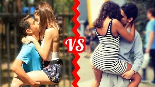 KISSING BATTLE - Who Is The BEST Kisser Social Experiment!