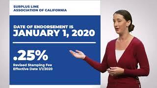 2020 Stamping Fee Adjustment