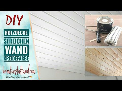 Projekt Holzdecke & Wand-Kreidefarbe | Geht das? | Erfahrungsbericht