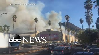 Wildfires in California spread dangerously close to Hollywood | ABC News
