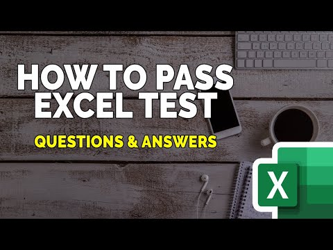 How to Pass Excel Test for Employment - YouTube