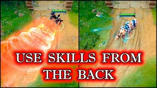 Dota 2 Tricks: use your abilities right From the back - 7.05!