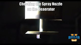 Checking the Spray Nozzle on the Deaerator