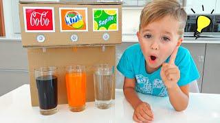 Vlad and Niki kids story about sweet machine