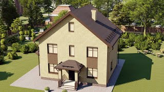 Проект дома 125-A, Площадь дома: 125 м2, Размер дома:  11,9x9 м