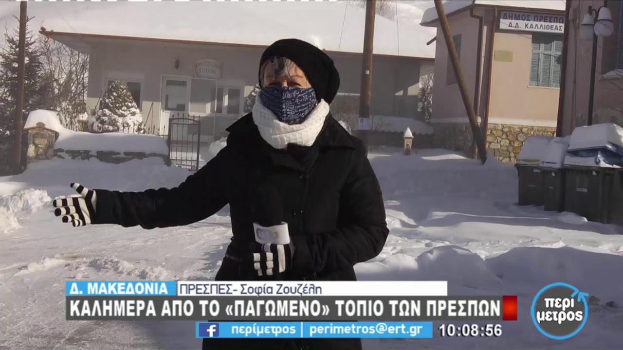 Χιόνια και πολικές θερμοκρασίες προκαλεί η «Μήδεια» στην Δ. Μακεδονία | 15/02/2021 | ΕΡΤ