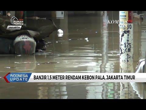 Banjir 1,5 Meter Rendam Kebon Pala, Jakarta Timur