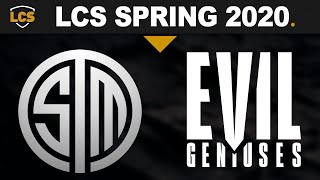 TSM vs EG - LCS 2020 Spring Split Week 5 Day 3 - Team SoloMid vs Evil Geniuses