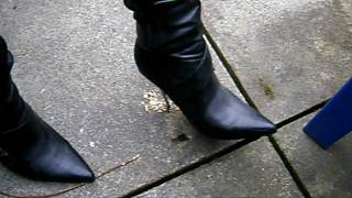 Steel Stiletto Heels - Hasta La Vista Cheesy