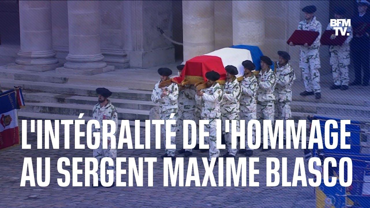 La cérémonie d'hommage au sergent Maxime Blasco en intégralité