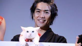 北村一輝、美魔女ネコにメロメロ!共演者の誰より「一番安心」映画「猫侍南の島へ行く」完成披露試写会3#KazukiKitamura#Nekozamurai