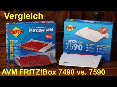 Vergleich: AVM FRITZ!Box 7590 vs. 7490