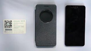Nillkin Sparkle Flip Case Cover Samsung Galaxy A9 Pro - Black