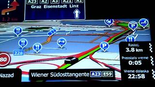 GPS-  XGODY 886 -   Igo Mapa 2017 Simulacija Ulazak U BEČ Wien