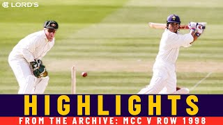 Tendulkar Smashes Only Lord's Century! | MCC v ROW Princess of Wales Memorial Match 1998 | Lord's