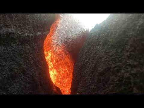 GoPro keeps filming after being engulfed in molten lava