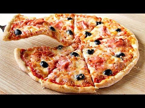 Pizza Casera Con Masa Sin Reposo