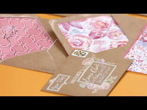 Envelope Liners by Katelyn Lizardi | Sizzix