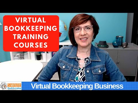 Where can you get virtual bookkeeping training? - YouTube