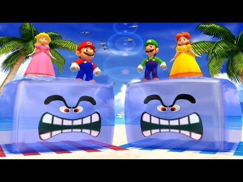 【マリオパーティ100ミニゲームコレクション】ピーチ姫VsデイジーVsマリオVsルイージ主人CPU