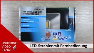 LED-Strahler mit Bewegungsmelder und Fernbedienung - Unboxing Video