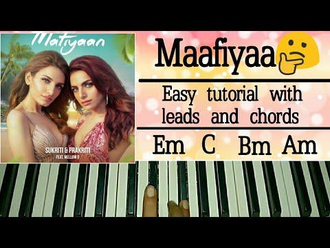 Mafiyaan : Easy Piano Tutorial | Sukriti & Prakriti kakar ft MellowD & MJ5