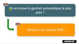 Say it in French = Where is the closest ATM