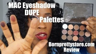 MAC Eyeshadow Dupes: Bornprettystore.com Review