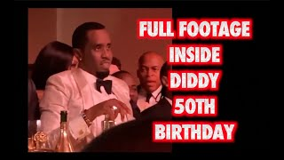FULL DIDDY 50TH BIRTHDAY PARTY FOOTAGE