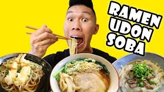 RAMEN Noodles Vs Udon Vs Soba Comparison || Life After College: Ep. 599