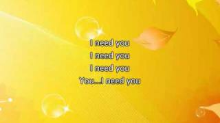 Alicia Keys - I Need You, Lyrics In Video