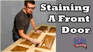 Staining An Exterior Wood Door.  How To Stain A Door.