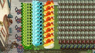 Plants vs Zombies 2 - Sling Pea, Snow pea and Toadstool