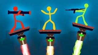 WORLDS MOST INTENSE STICK FIGHT BATTLE! (Stick Fight)