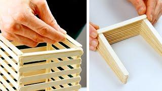 2 Idées De Bricolage à Faire Avec Des Bâtonnets De Glace Usagés