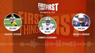Packers' offense, Cowboys/Seahawks, Patriots/Raiders (9.28.20)   FIRST THINGS FIRST Audio Podcast