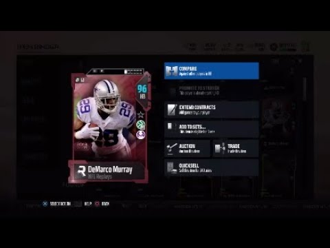 NFL Replay Demarco Murray   Player Review   Madden 18 Ultimate Team Gameplay