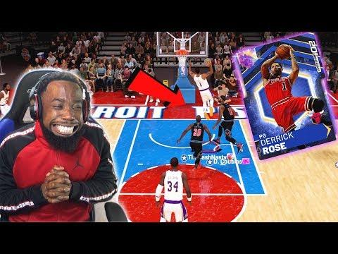 Opal Derrick Rose EPIC 360 DUNK On The Whole Team! NBA 2K19