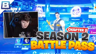 Reacting To The New Fortnite Season (Buying All Tiers) | Bugha