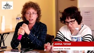 Anna Tatar on hate crime monitoring (European Meetings against Racism and Discriminations), 26.10.2016.