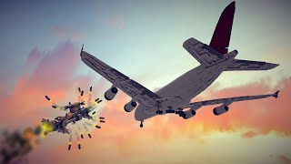 Reinforced Work In Progress Airbus A380 Shot Down By Two Types Of Missiles | Besiege